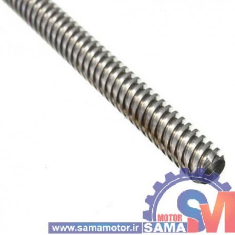 پیچ لید اسکرو T8 قطر 8 میلیمتر گام 4 میلیمتر طول 20 سانتی متر