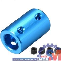 کوپلینگ آلومینیومی ثابت با قطر داخلی 8 در 10 میلیمتر