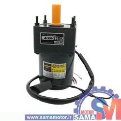 موتور AC گیربکس دار 220 ولت 25 وات 10 دور مدل 4GN-120K