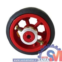 چرخ پلاستیکی 5 سانتی با بوش فلزی