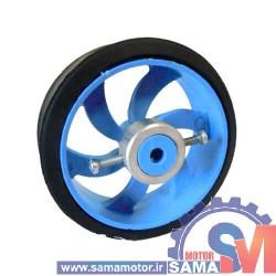 چرخ پلاستیکی 7 سانتی با بوش فلزی