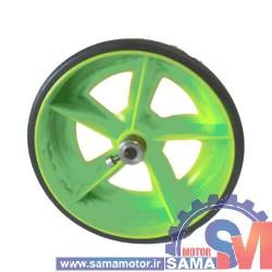 چرخ پلاستیکی 10سانتی لاندا با بوش فلزی