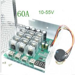 ماژول درایور DC ولتاژ 55-10 ولت 60 آمپر با نمایشگر دیجیتال