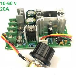 ماژول کنترل دور موتور dc ولتاژ 10-60 ولت جریان 20 آمپر