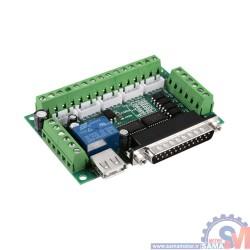 برد کنترلر cnc پنج محور سازگار با MACH3 با اتصال Parallel