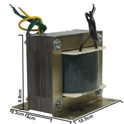 ترانس دوبل 24 ولت 2*24 با جریان 3 آمپر و ورودی 220 ولت با خروجی 3 سر و توان 144 وات