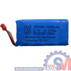 باتری لیتیوم پلیمر 3.7 ولت 3600mA
