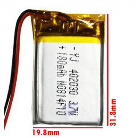 باتری لیتیوم 3.7 ولت 180 میلی آمپر ساعت