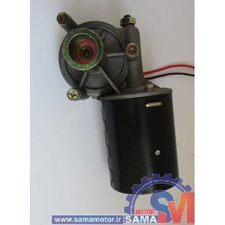 موتور گیربکس حلزونی 100 وات 24 ولت 65 دور