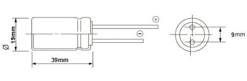 خازن الکترولیت 1000 میکروفاراد 100 ولت DIP