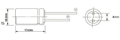 خازن الکترولیت 330 میکروفاراد 35 ولت DIP