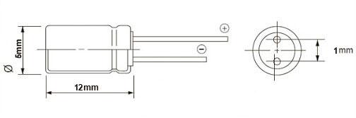 خازن الکترولیت 33 میکروفاراد 50 ولت DIP