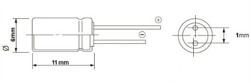 خازن الکترولیت 4/7 میکروفاراد 400 ولت DIP