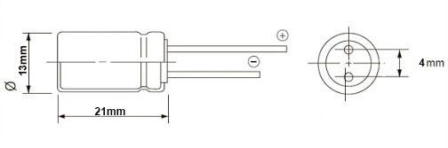 خازن الکترولیت 470 میکروفاراد 63 ولت DIP